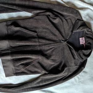 Juicy couture brown terry cloth track jacket